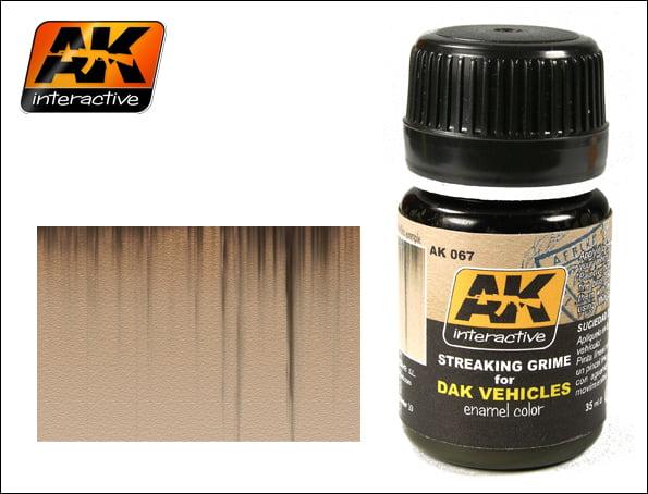 Streaking Grime for Dak Vehicles Enamel Color Colour by AK Interactive AKI-067