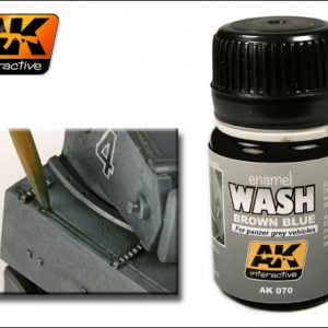 Brown Blue Enamel Wash by AK Interactive AKI-070