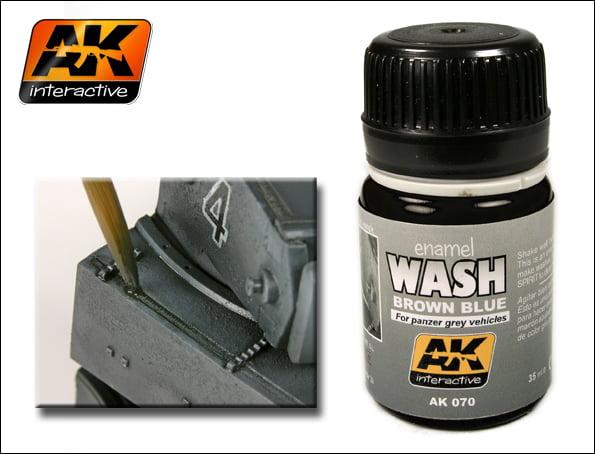 Brown Blue Enamel Wash by AK Interactive AKI-070