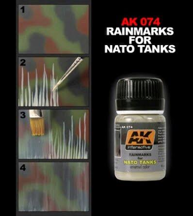 Rain mark for NATO TanksEnamel Wash by AK Interactive AKI-074 Technique