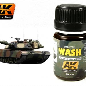 For NATO Camo Vehicles Enamel Wash by AK Interactive AKI-075