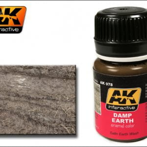 Damp Earth Enamel Color Colour by AK Interactive AKI-078