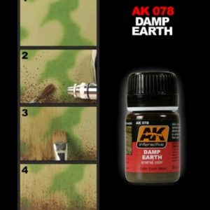 Damp Earth Enamel Color Colour by AK Interactive AKI-078 Technique