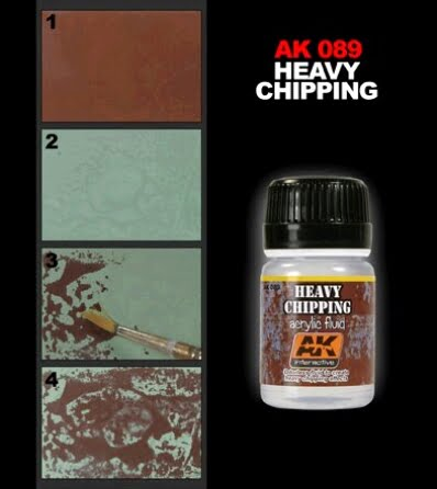 Heavy Chipping Acrylic Fluid Wash by AK Interactive AKI-089 Techniques
