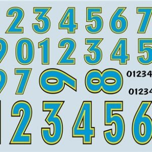 Gofer Racing Stock Car Number Decals Decal Sheet 11013
