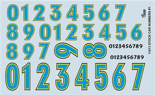 Gofer Racing Stock Car Number Decals Decal Sheet 11013