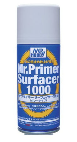 Mr Primer Surfacer 1000 Spray 170ml by Mr Hobby GUZ-B524 B524