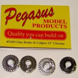 Chrome 23 inch Disc Brakes with Moulded Molded Caliper by Pegasus Hobbies