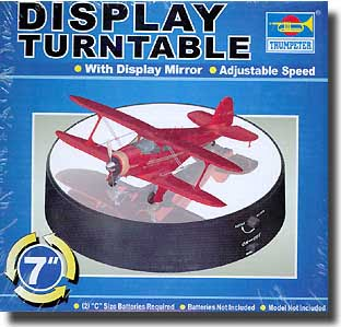 Battery Operated Round Mirrored Display Turntable for Model Kits 9835