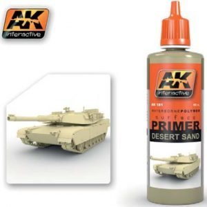 Desert Sand Acrylic Primer 60ml Bottle by AK Interactive AKI-181
