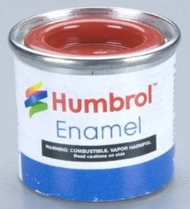 174 Signal Red Satin Humbrol Enamel Paint