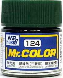 Semi-Gloss Dark Green Mitsubishi Mr Color GUZ-124