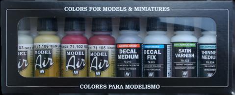 RLM Colors III Model Air Paint Set of 8 Vallejo 71164
