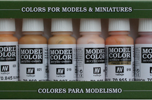 Face and Skin Tones Paint Set Vallejo 70124