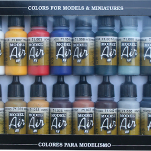 Basic Colors Colours Model air Paint Set of 16 Vallejo 71178