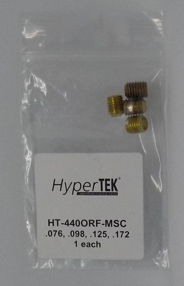 Orifices .076 .098 .125 .172 each by HyperTEK