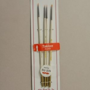 Atlas 4 Piece Taklon Brush RG-104 Set 10-5-3-0