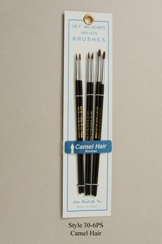 Atlas 6 Piece Camel Hair Brush 30-6PS