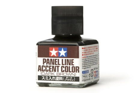 Dark Brown Tamiya Panel Line Accent Color 87140