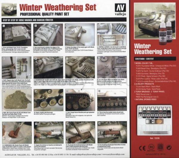 Back Winter Weathering Set by Vallejo 72220