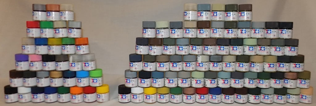 Full Set Of 33 X And 66 Xf Tamiya Colours