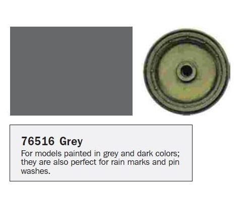 Model Wash for Weathering by Vallejo Grey Gray 76516