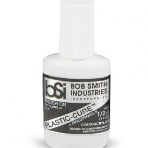 Bob Smith Industries Plastic-Cure + Fingernails CA Glue 14ml by BSI 105 BSI105