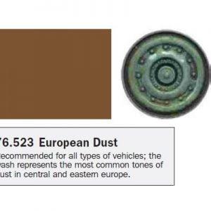 Model Wash for Weathering by Vallejo European Dust 76523