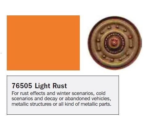 Model Wash for Weathering by Vallejo Light Rust 76505