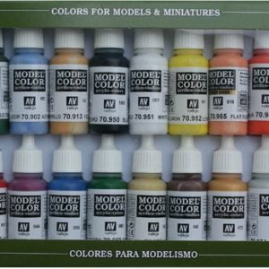 Basic Colors U.S.A. USA Paint Set by Vallejo 70140