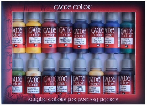 Game Color Colour Advanced Paint Set Of 16 By Vallejo 72298