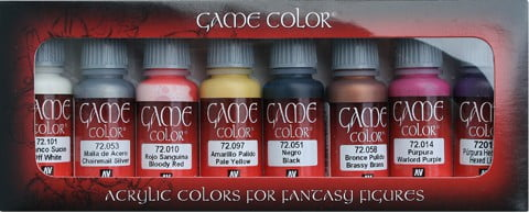 Non Dead Chaos Game Color Colour Paint Set of 8 by Vallejo 72302
