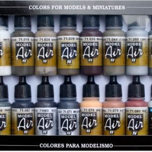 Weathering Set Model Air Paint Set of 16 by Vallejo 71194
