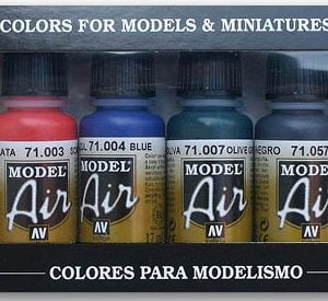 Basic Colors Model Air Paint Set of 8 by Vallejo 71174
