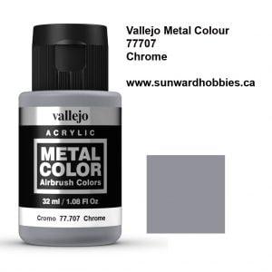 Chrome Metal Color Colour by Vallejo 77707