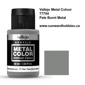 Pale Burnt Metal from Metal Color Colour by Vallejo 77704