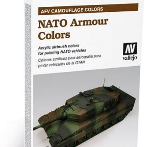 NATO Armour Colors Paint Set of 6 by Vallejo 78413