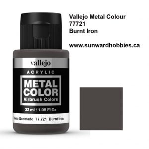 Burnt Iron Metal Color Colour by Vallejo 77721