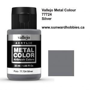Silver Metal Color Colour by Vallejo 77724