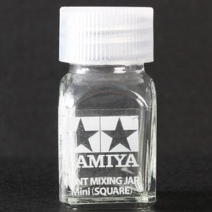 Spare Bottle Mini Square 10ml Size by Tamiya 81043