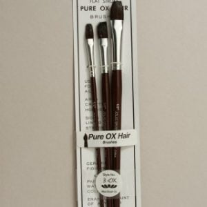 Atlas Set of 3 Pure Ox Hair Brushes ABC3-OX 3-OX
