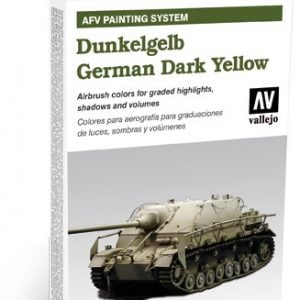 AFV Dunkelgelb German Dark Yellow Set of 6 by Vallejo 78401