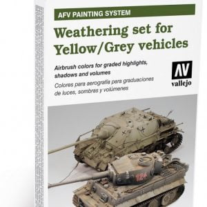 Weathering for Yellow and Grey Vehicles Set of 6 by Vallejo 78405