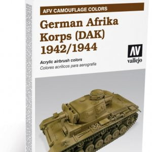 German Afrika Korps 1942-1944 (DAK) Set of 6 by Vallejo 78410