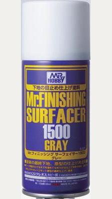 Mr Finishing Surfacer 1500 Grey Gray Spray GUZ-B527 B527