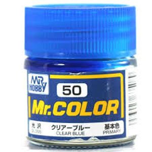 Gloss Clear Blue by Mr Color GUZ-C50 50