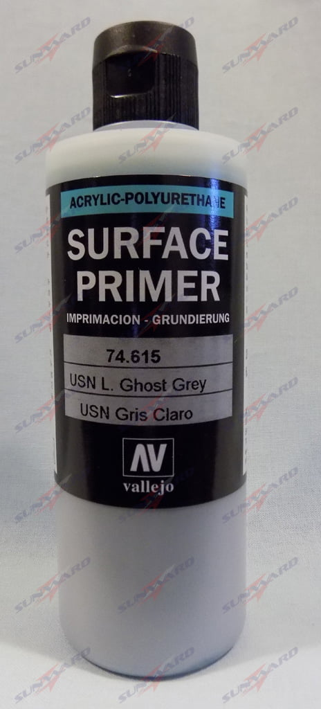 200ml Vallejo Primer Model Color Colour 74615 USN Light Ghost Grey Gray