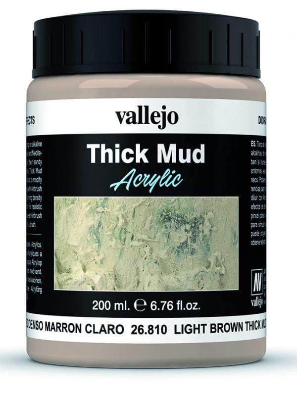 Light Brown Mud Thick Mud by Vallejo 26810 200ml