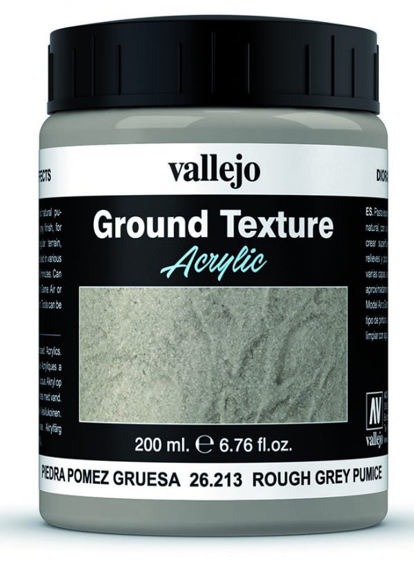 Rough Grey Gray Pumice Texture by Vallejo 26213