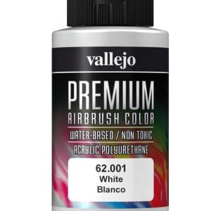 White Premium Airbrush Colour by Vallejo 62001 60ml